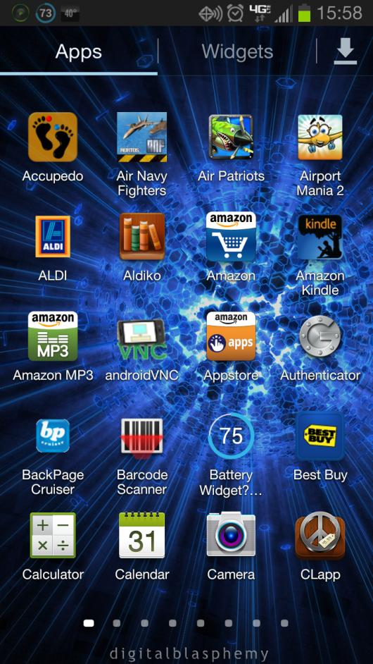 Stock 4x4 App Drawer