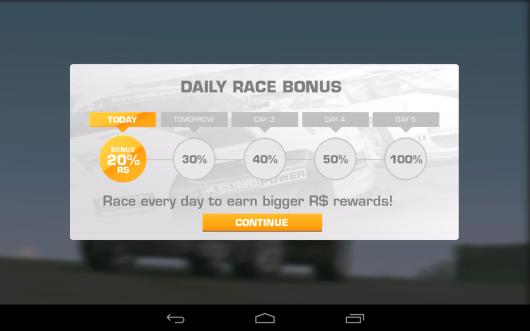 Daily Race Bonus