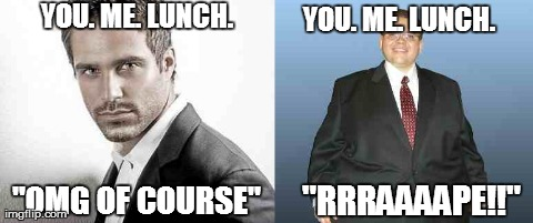 You. Me. Lunch