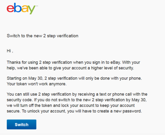 Why ebay does not care about security | Wizard Prang's Blog
